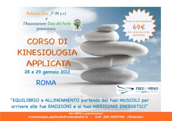 Roma: seminario di KINESIOLOGIA APPLICATA 28 e 29 gennaio a 69 € !!!
