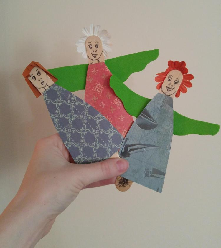 create your own fairy with popsicle sticks