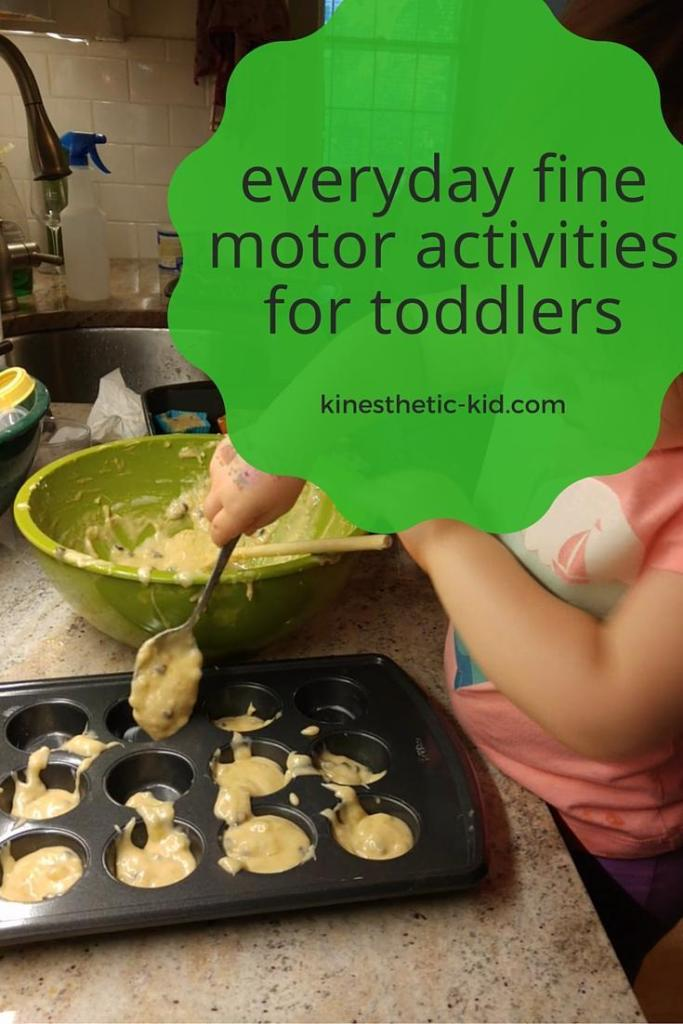 These fine motor activities for toddlers are found in every day tasks.
