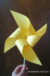 how to make a pinwheel kinesthetic-kidcom