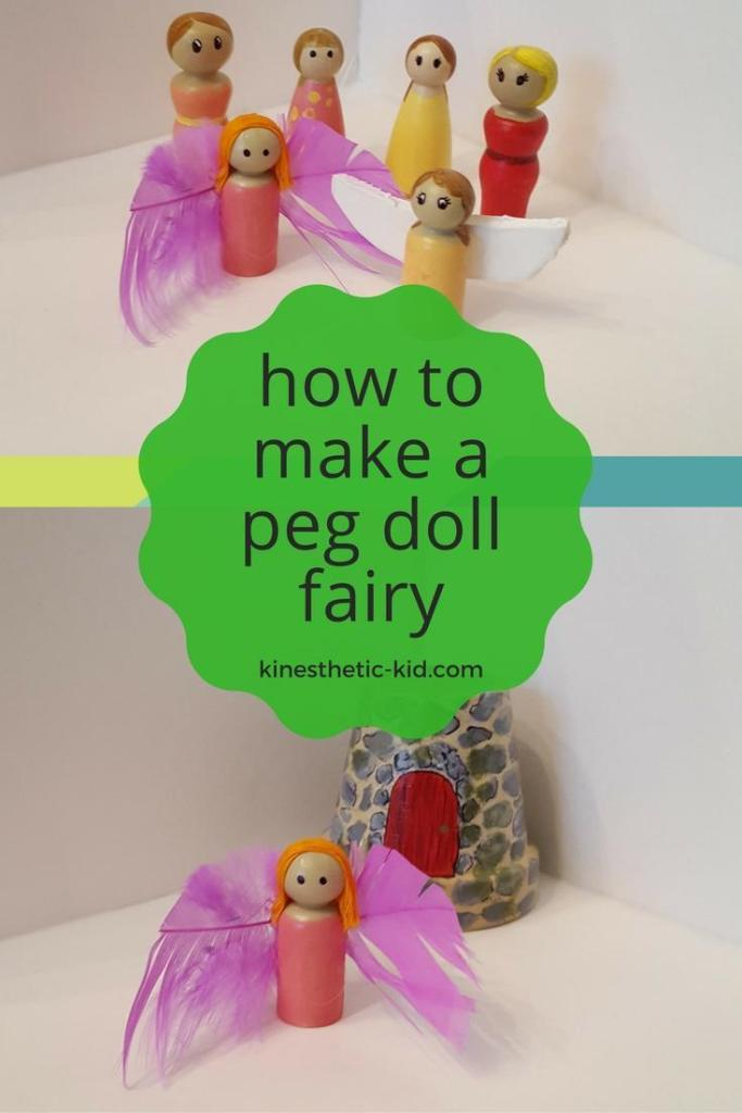 how to make a peg doll fairy - kinesthetic-kid.com