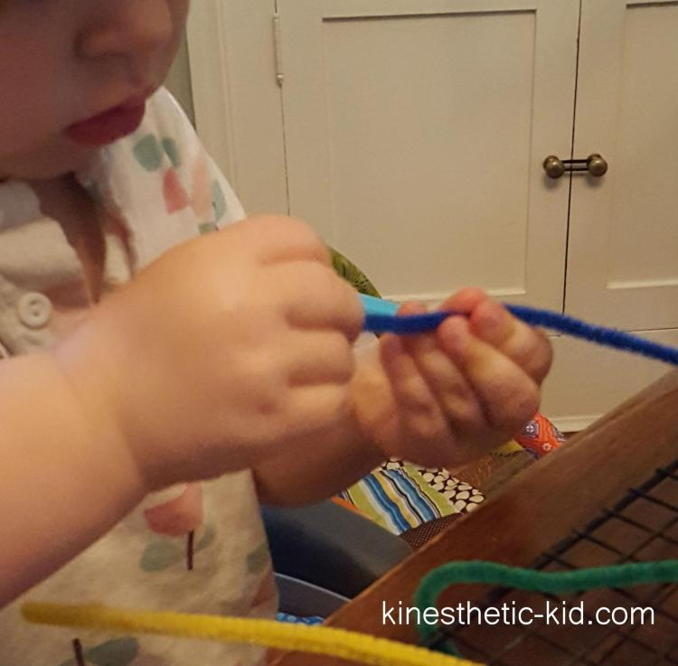threading the pipe cleaner