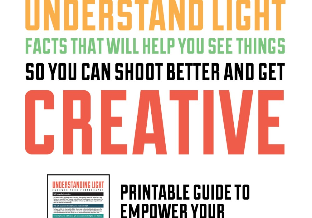 Understanding Light – A free photography guide for beginners.