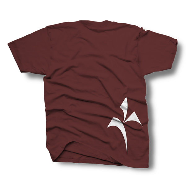 Kinetik Logo Shirt – Maroon and White