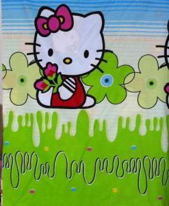Kain Asli Hello Kitty Garden