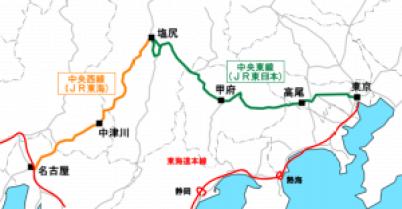 中央本線と東海道本線