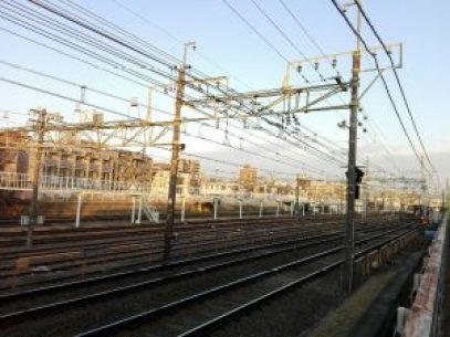 桜上水駅の車両基地