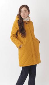 ・裏ボアキルティングロングコート Green Parks グリーンパークス のコート  ファッション通販サイトのCROSS COMPANY COLLECTION(クロスカンパニーコレクション)