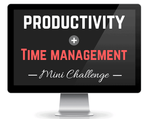 productivity and time management challenge