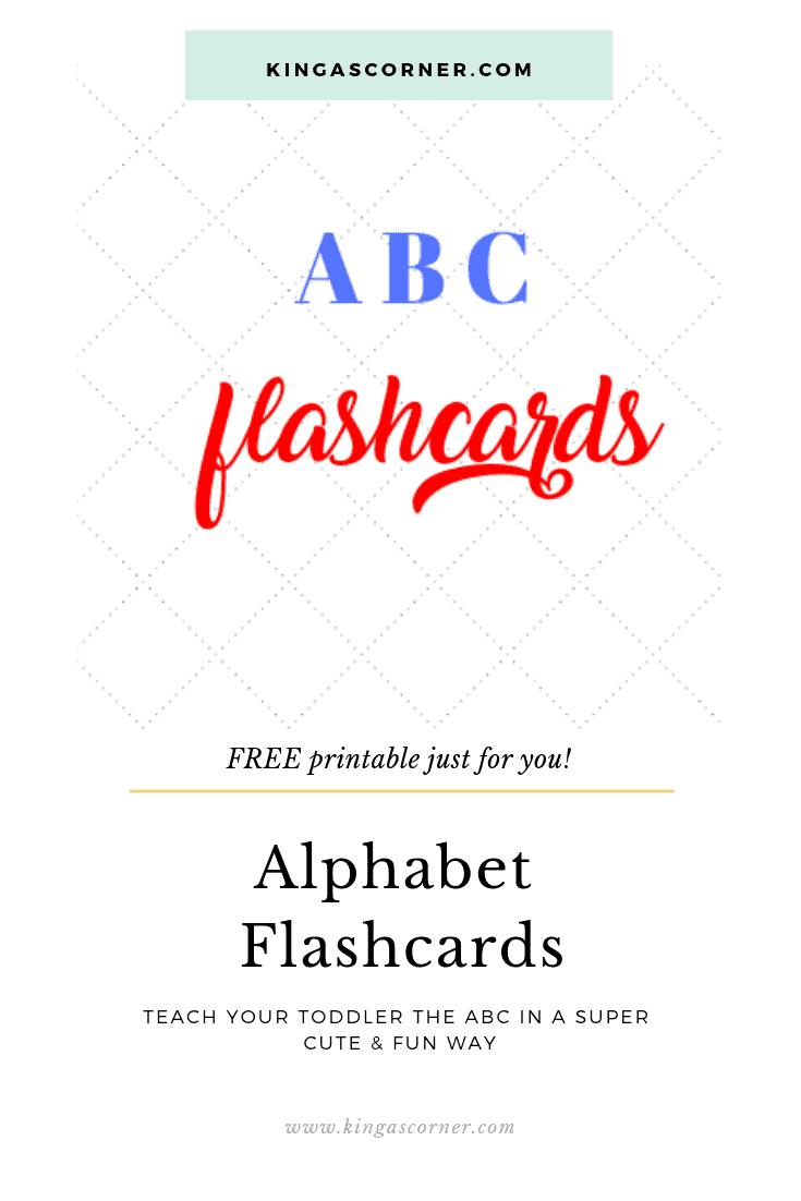 graphic relating to Abc Flash Cards Free Printable named Free of charge Alphabet Printables for Babies - KingasCorner