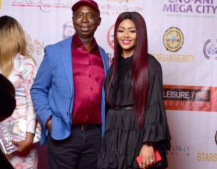 Regina Daniels & Husband Ned Nwoko Meets The President Of Sierra Leone