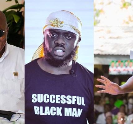 Akufo Addo, Kwadwo Sheldon and John Mahama