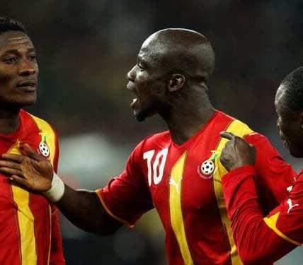 Stephen Appiah and Asamoah Gyan