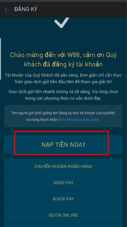 cách tải app mobile w88