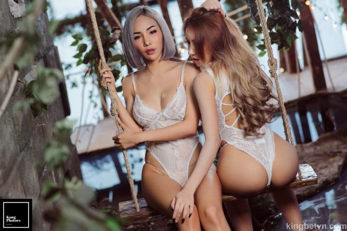 ảnh gái xinh khoe hàng nóng bỏng trong bộ bikini mỏng tang
