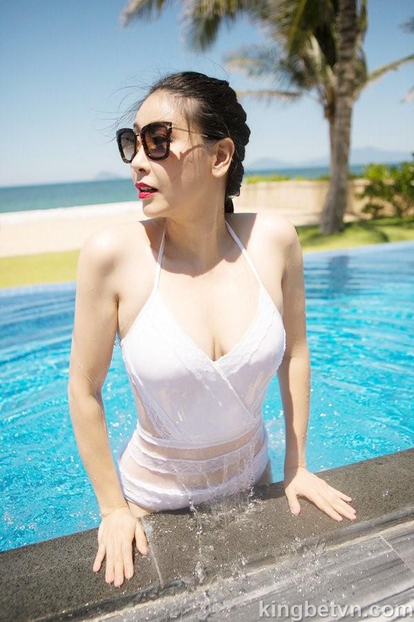 full ảnh bikini nóng bỏng tuyệt đẹp của hoa hậu hà kiều anh