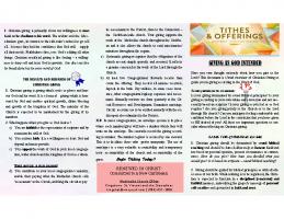 Tithing Brochure