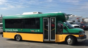 New Burien shuttle freshly wrapped and ready for riders – keep an eye out. Service begins June 8.