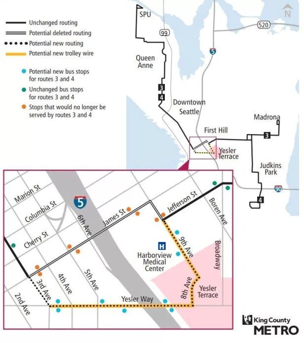Route 3 and 4 map