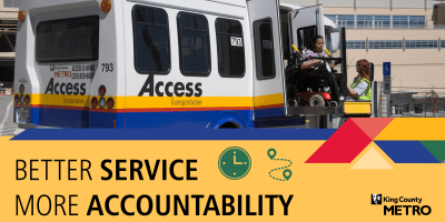 Access van graphic with Better service more accountability headline