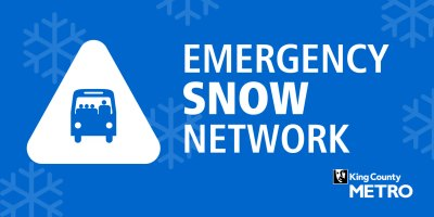 Emergency Snow Network logo and graphic