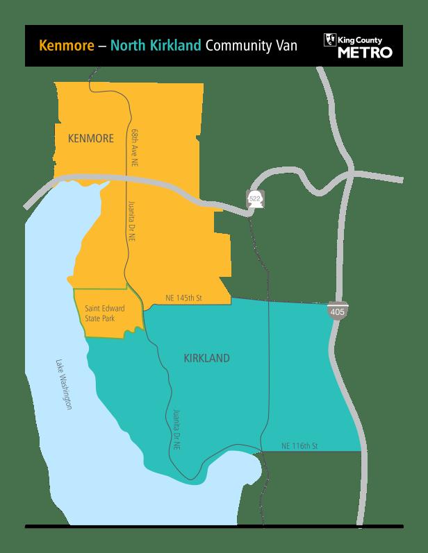 Kirkland Kenmmore map