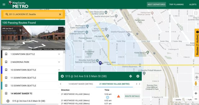 foto de Metro's updated web-based Trip Planner offers better searching ...