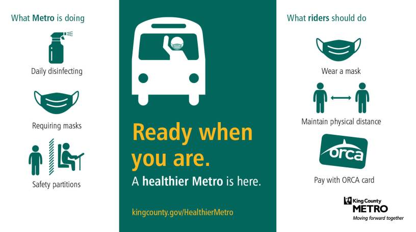 """""""Ready when you are: A healthier Metro is here."""""""