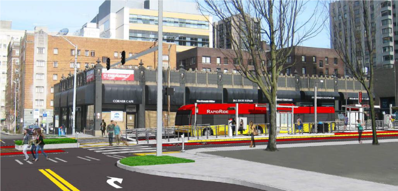 RapidRide G Line at Madison and Terry