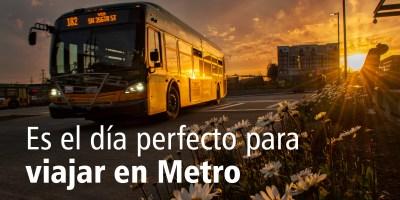 Ruta 182 - Es el día perfecto para viajar en Metro
