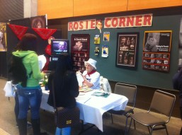 Real-life Rosie the Riveters talk to visitors at the Women in Trades Fair