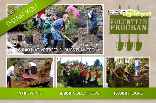 King County Parks Volunteer Thank You