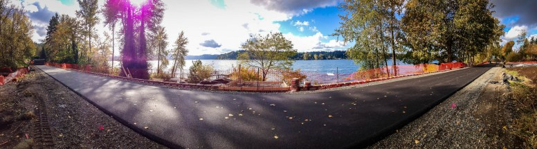 Paving on East Lake Sammamish Trail