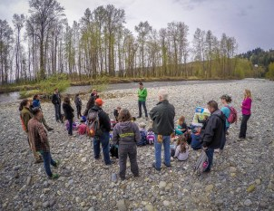 Planting event along the Tolt river