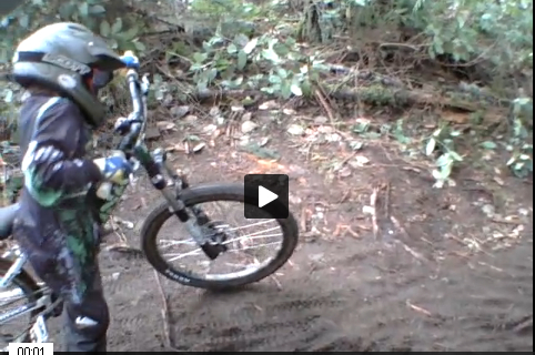 8 year old riding Duthie Hill Mountain Bike Park