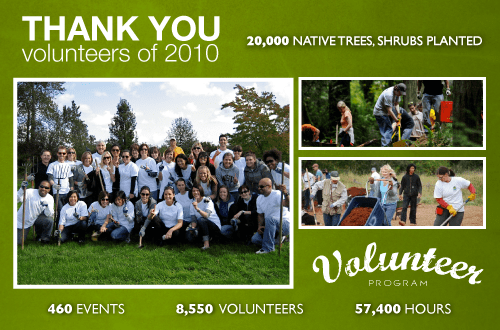 Volunteer Thank You 2010