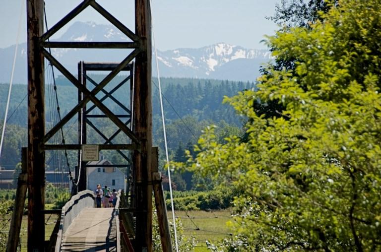 The iconic Tolt bridge today