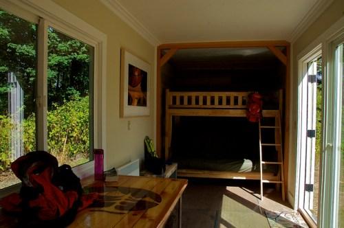 Camping container interior