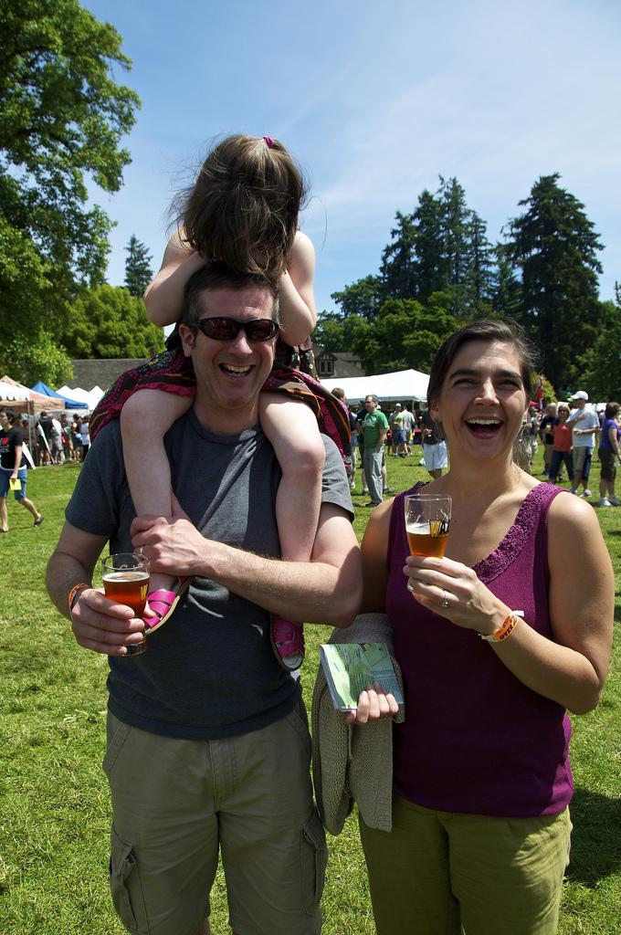 Random beer people