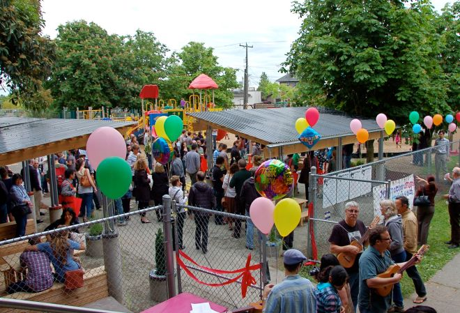 A celebration of a new community gathering place for el Centro de la Raza which was funded in part by YSFG in 2011