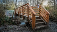 Judd Creek bridge. Built with some love from our very own Community Partnerships and Grants program