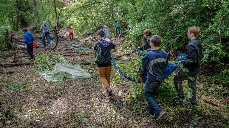 tahoma-jr-high-volunteering-at-ravensdale-park-and-cemetery-reach-natural-area_26677709885_o