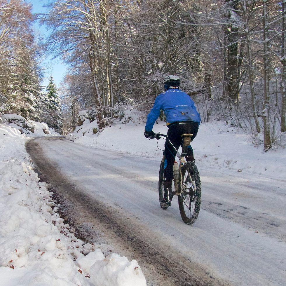 Winter cyclist