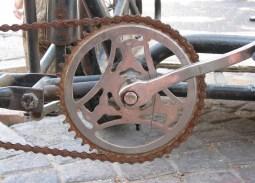 Rusty bike gears