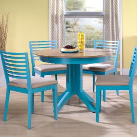 Low Horizontal Round Dining Set