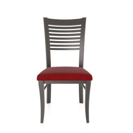 Horizontal Slat Back Chair