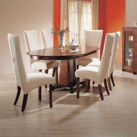 Double Pillar Base Dining Set