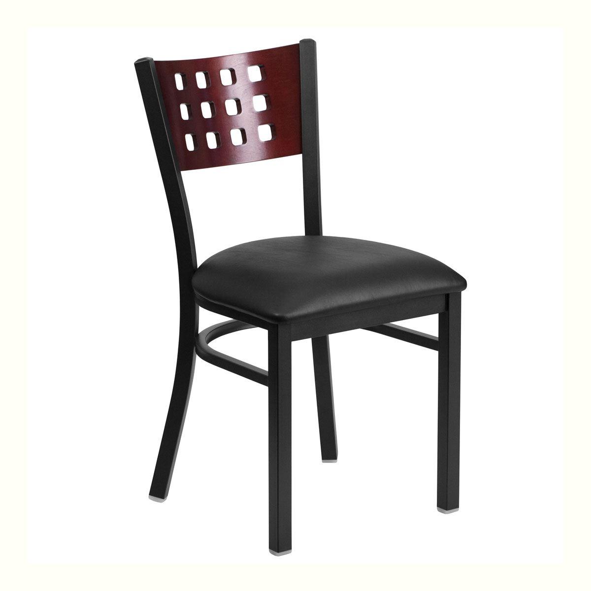12 Square Black Seat Chair