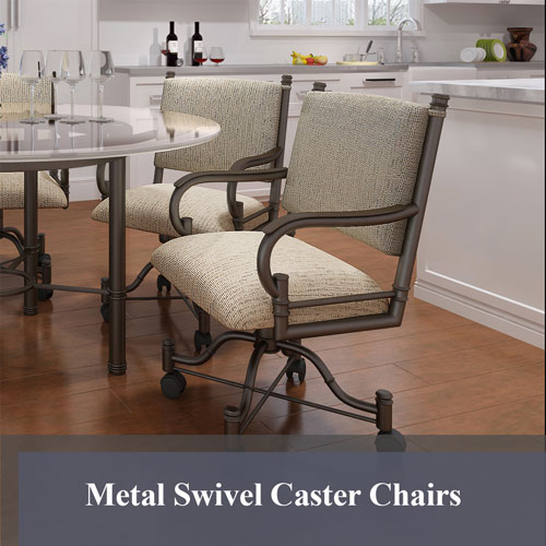 Metal Swivel Caster Chairs