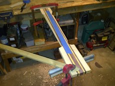 six string bass neck in carving process 2013